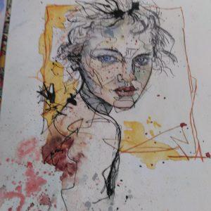 Sulu boya portre